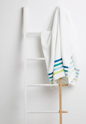 Sixth Floor Multi Stripe Bath Towel 100% Cotton