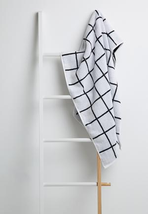 Sixth Floor Grid Bath Towel 100% Cotton