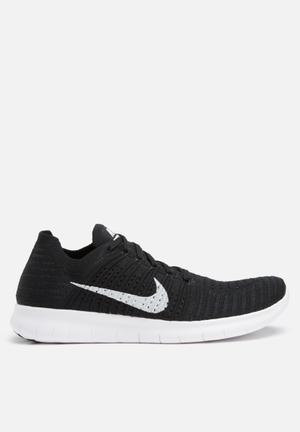 Nike Nike Free Run Flyknit Sneakers Black / White