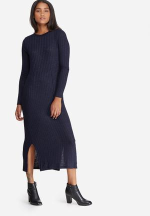 Vero Moda Nille Dress Casual Navy & Black