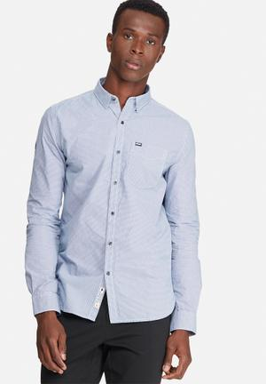 Superdry. Academy Button Down Shirt Blue & White