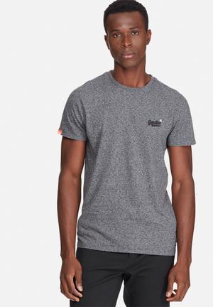 Superdry. Orange Label Vintage Tee T-Shirts & Vests Grey Melange