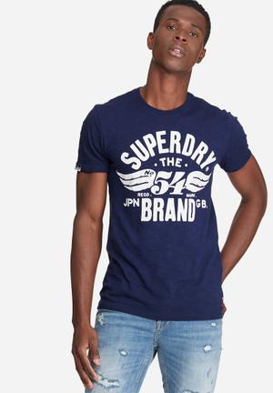 Superdry. 54 Brand Cold Dye Tee T-Shirts & Vests Navy
