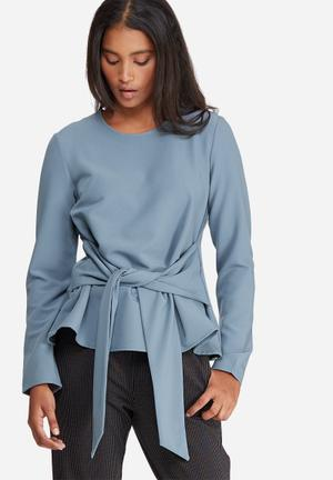 Pieces Albia Top Blouses Blue