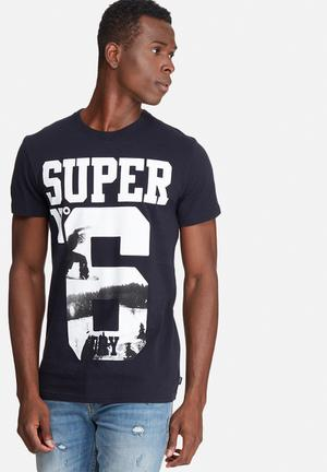 Superdry. No 6 Photographic Tee T-Shirts & Vests Dark Navy