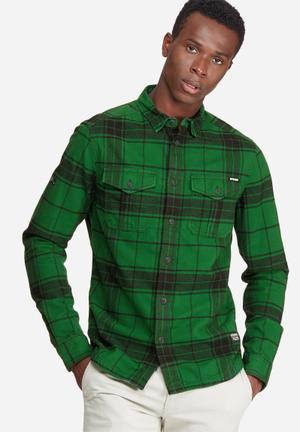 Superdry. Rookie Plaid Shirt Green & Black