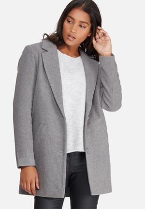 Noisy May Colour Coat Jackets Grey