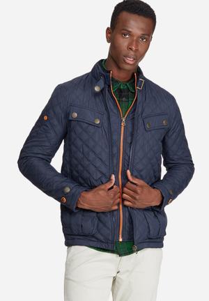 Superdry. Apex Quilt Jacket Navy