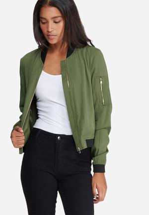 Vero Moda Premium Bomber Jackets Green & Black