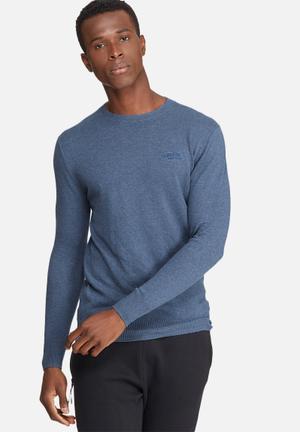 Superdry. Orange Label Crew T-Shirts & Vests Blue