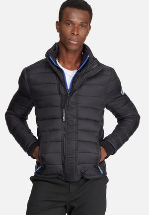 Superdry. Fuji Triple Zip Through Jacket Black & Blue