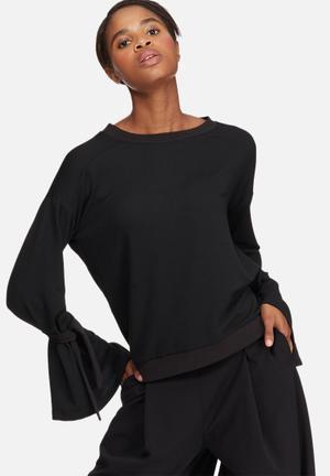 Vero Moda Sleeve Knot Sweat T-Shirts, Vests & Camis Black