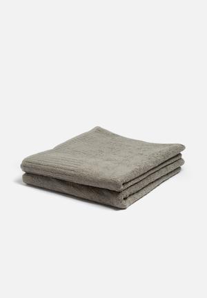 Terry Lustre Bath Towel Set Of 2 100% Cotton, 450gsm