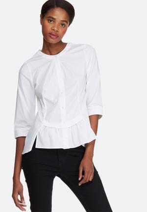Vero Moda Blis Placket Shirt White