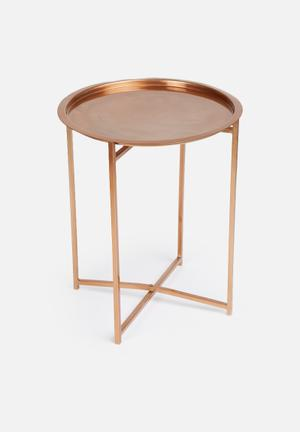 Sixth Floor Copper Side Table Mild Steel With Copper Finish