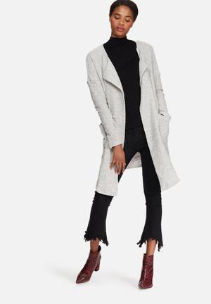 Vero Moda Maggi Drapy Jacket Grey & White