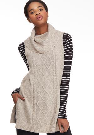 Vero Moda Raven Posh Sleeveless Knit Knitwear Pink & Grey Melange