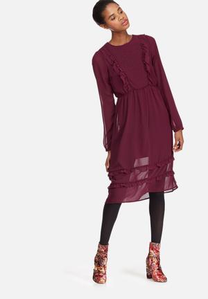 Vero Moda Jada Dress Formal Burgundy