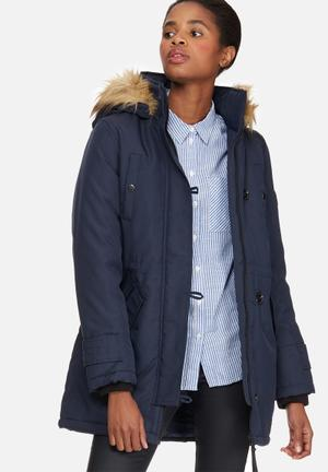 Vero Moda Excursion Expedition 3/4 Parka Jackets Navy