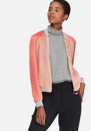 Vero Moda Nicole Bomber Jacket Coral, Pink & Grey