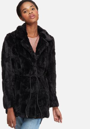 Vero Moda Ellen Faux Fur Jacket Black