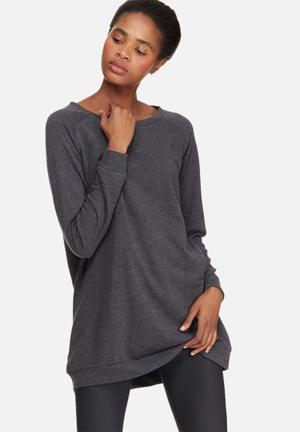 Jacqueline De Yong Lexus Oversize Sweat T-Shirts Charcoal