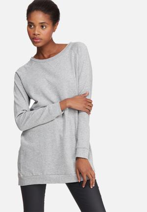 Jacqueline De Yong Lexus Oversize Sweat T-Shirts Grey