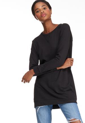 Jacqueline De Yong Lexus Oversize Sweat T-Shirts Black
