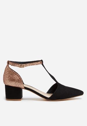 Daniella Michelle Gia Heels Black & Bronze