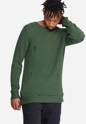 Jack & Jones Originals Thomas Crew Knit Knitwear Green