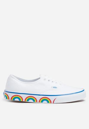 Vans Authentic Rainbow Tape Sneakers True White / Blue
