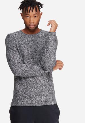 Jack & Jones Originals Good Crew Neck Knit Knitwear Black & White