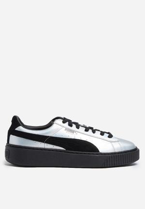 PUMA W Basket Platform Explosive Sneakers Irredescent / Black