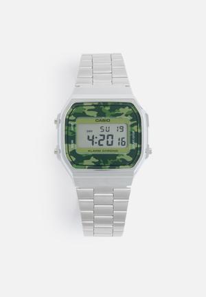 Casio Digital Wrist Watch Silver & Green