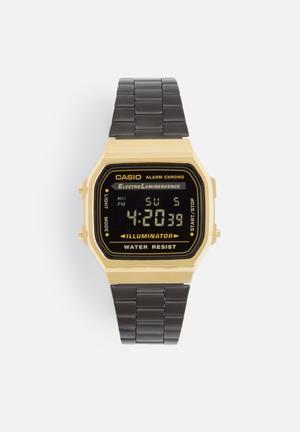 Casio Digital Wrist Watch Black & Gold