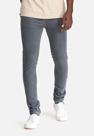 Basicthread Skinny Denim Jeans Grey