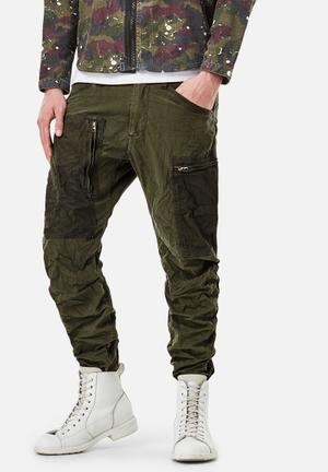 G-Star RAW Powel 3D Tapered Cuffed Pants & Chinos Green