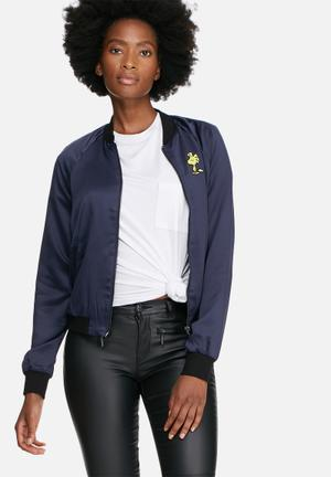ONLY Snoopy Bomber Jackets Navy, Black & Yellow