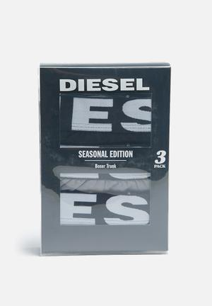 Diesel  Shawn Three Pack Underwear Black, White & Grey