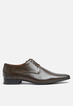 Gino Paoli Steve Derby Shoe Brown