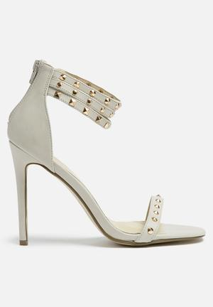 Missguided Studded Ankle Strap Heel Grey
