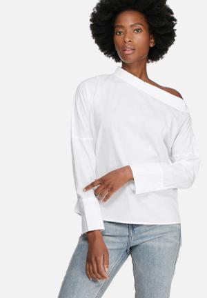 Vero Moda Ailo Off Shoulder Shirt White