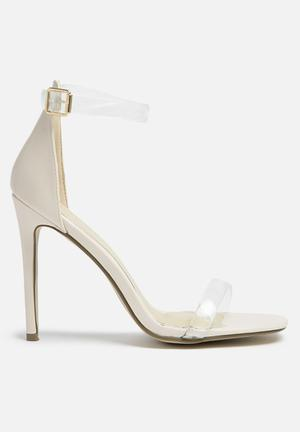 Missguided Perspex Ankle Strap Heel Blush