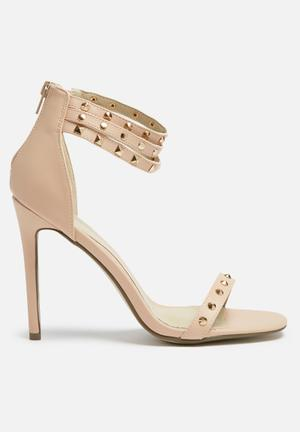 Missguided Studded Ankle Strap Heel Blush