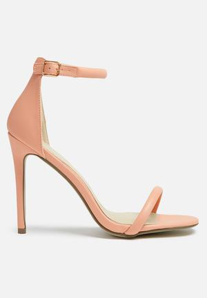 Missguided Barely There Heel Coral