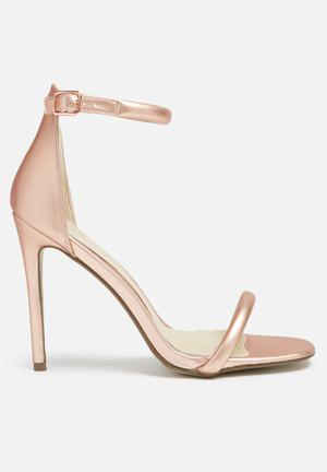 Missguided Barely There Heel Rose Gold