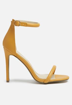 Missguided Barely There Heel Mustard