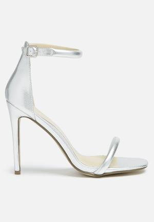 Missguided Barely There Heel Silver
