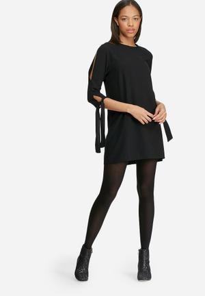 Dailyfriday Shift Dress With Sleeve Tie Formal Black