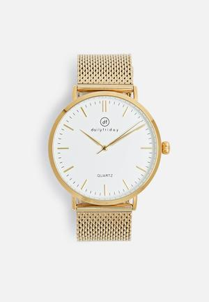 Dailyfriday Alice Mesh Watch Gold